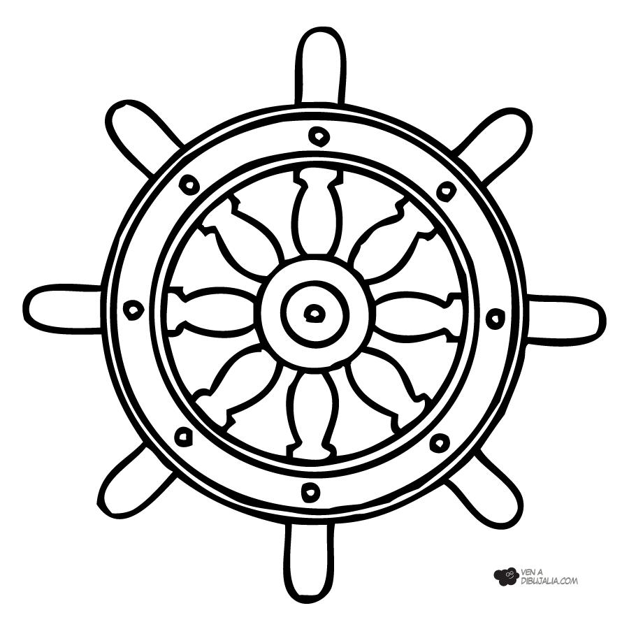 Dibjos infantiles para colorear de timones de barcos - Imagui