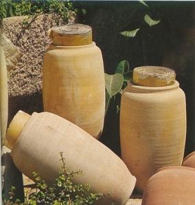 vasijas que los contenian