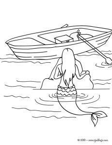sirena y barca