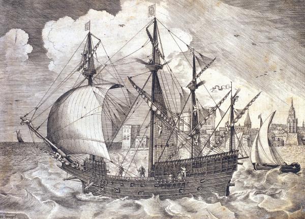 galeon S. XVI. Mn., Coleccion Breghel el Viejo