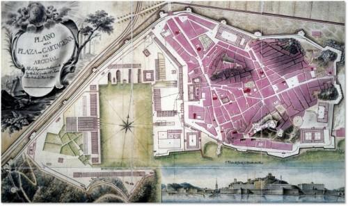 Plano Cartagena S XVIII