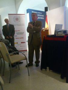 Pedro Fondevila impartiendo la conferencia