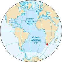 Cabo Agulhas en el mapa munid