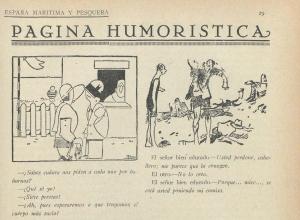 España Maritima y Pesquera, humor
