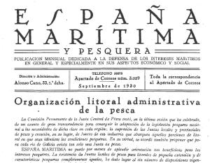 España Maritima y Pesquera, portada