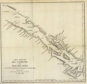 Carta Náutica del Estrecho de Magallanes
