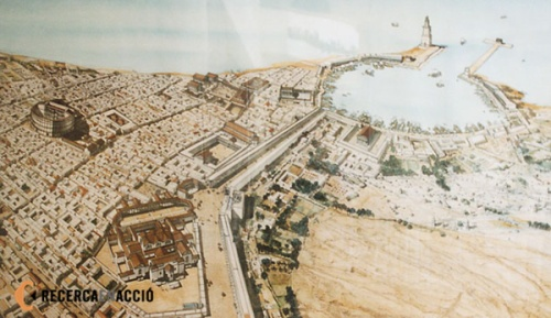 Reconstrucción de lo que fue la ciudad de Leptis Magna