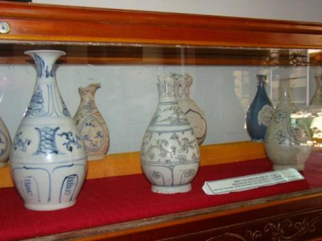 Una de las colecciones del museo del comercio de cerámica de Hoi An