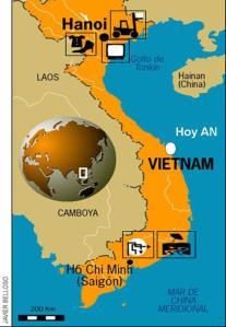 Hoi an, situación en el sureste asiáticol
