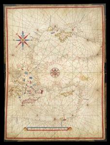 Carta del Mar Mediterráneo (S. XVI)