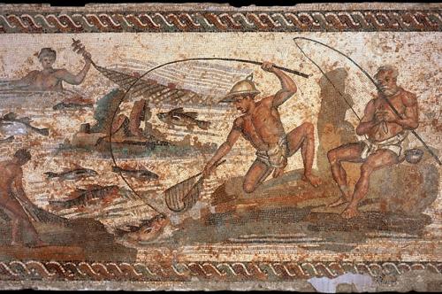 Uno de los mosaicos de Leptis Magna