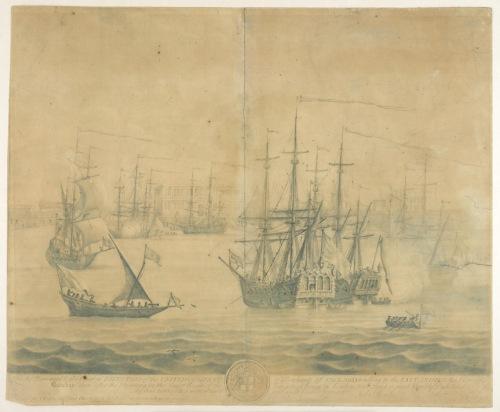 Vista de la ciudad de Bombay en 1735