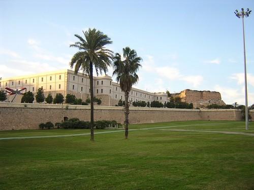 Vista actual de algunos de los edificios militares construidos en esos momentos