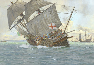 El buque hundiéndose. Fuente