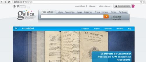 Acceso a Gallica en español