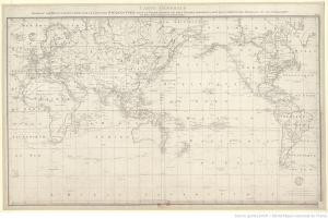 Carta general con los descubrimientos del Capitán Cook, 1785