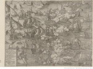 combate naval en Saint Michel S. XVII