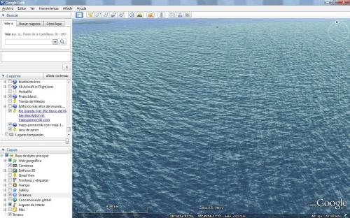 Una vista de Google Earth Oceanos