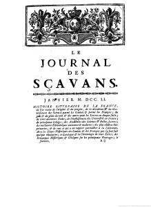 Portada J of Sçavants