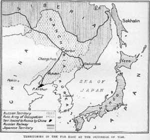 Los territorios que originaron la guerra en 1904