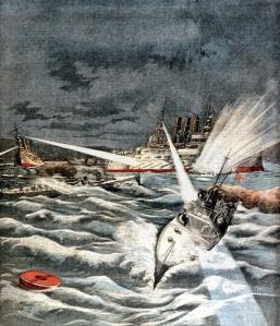 Representación del ataque a Port Arthur (09-02-1904)