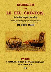 Fácsimil de un libro en francés sobre el fuego griego