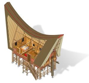 La casa-barco por dentro