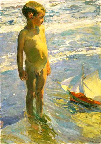 El niño de la barquita (1904, Museo Sorolla)