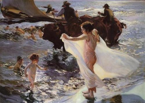 La hora del baño  (1904, colección privada)
