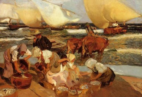 Playas de Valencia por la tarde  (1908)