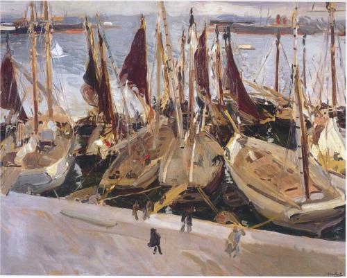 Barcos de pesca en el Puerto,  (1907)