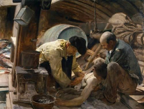 ¡Aún dicen que el pescado es caro!  (1894 Museo del Prado)