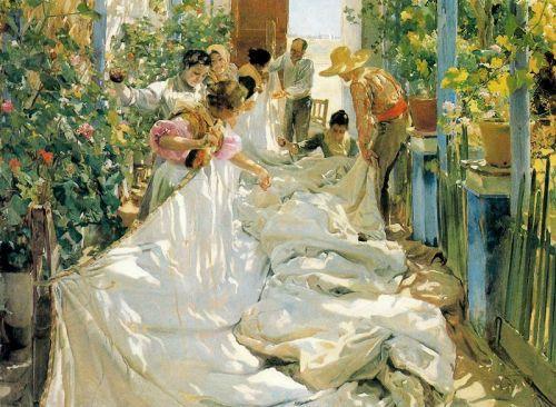 cosiendo la vela (1896)Galleria Internazionale d'Arte Morderna di Ca' Pesaro, Venezia