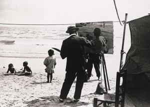 Sorolla pintando en la playa