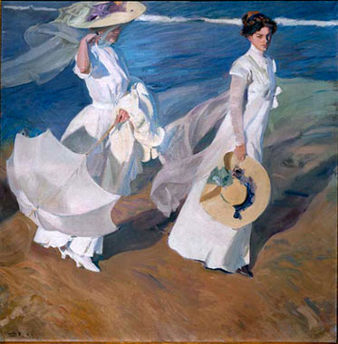 Paseo a orillas del mar,  (1909 Museo Sorolla)