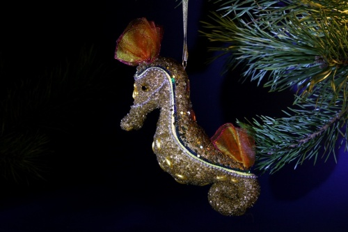 de caballitos de mar. Navidad, decoraciones de árboles