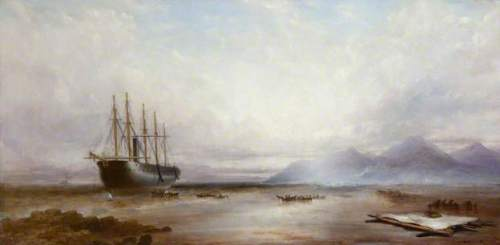 El Buque varado en Irlanda. Obra de Matthew Kendrick, conservado en el National Museums Northern Ireland