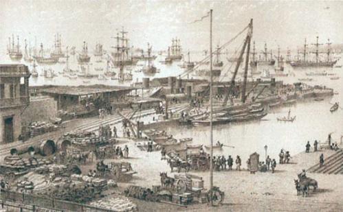 El Puerto del Callao a principios del siglo XIX Fuente: Archivo Fotográfico del Diario el Comercio (Lima)