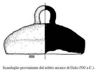Escandallo más antiguo encontrado hasta hoy en día. Fuente: Pellegrino