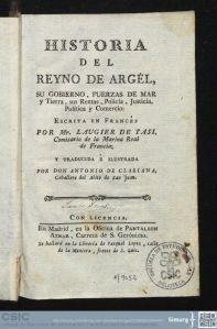 Historia del reino de argel