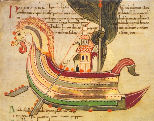 Viking Dragon Ship Source Manuscript, Northumbia, England, 900s CE.jpg