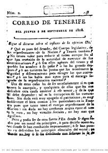 Uno de los periódicos más antiguos: El Correo de Tenerife, de 1808