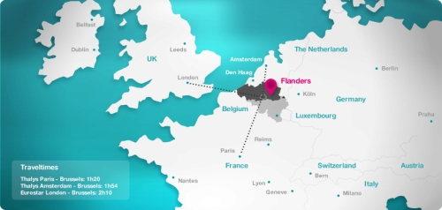 Localización de la región de Flandes