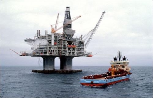 Una de las plataformas petrolíferas