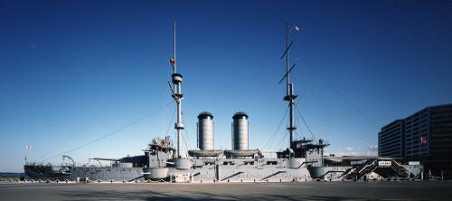 acorazado pre-Dreagnought Mikasa, buque insignia del Vicealmirante Togo durante la guerra ruso japonesa