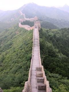Vista del corredor de la muralla