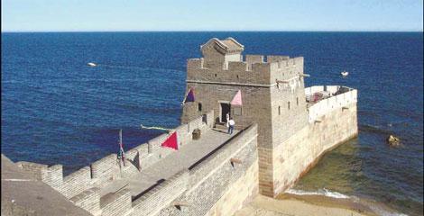 Muralla en el mar