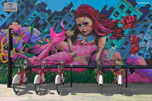 Ilustración 27. Graffiti en la calle Altántida de Barcelona