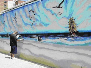 Grafiti Marinero de Torredembarra