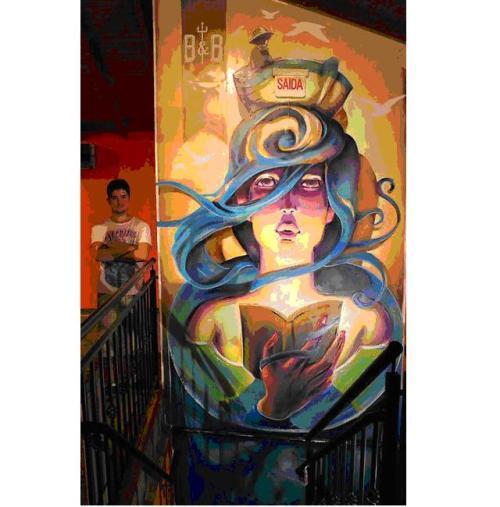 Graffiti de Valdi Valdi en Brasil